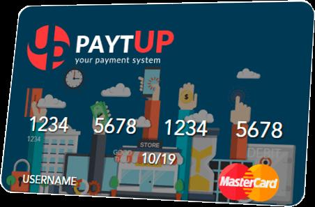 Клиенты PaytUP могут заказать вот такую платёжную карту