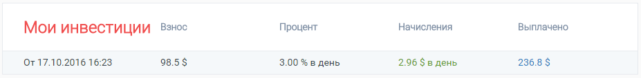 Инвестиции в PaytUP на начало февраля