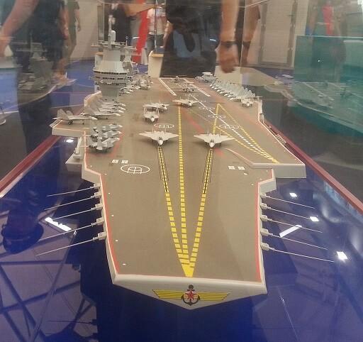 Макет строящегося корабля