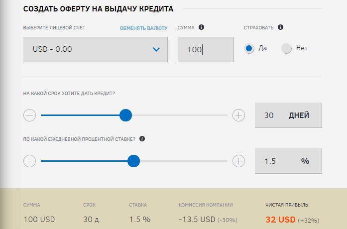 инвестиции ZillaCredit
