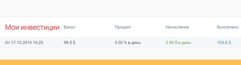 Инвестиции в PaytUP: результаты
