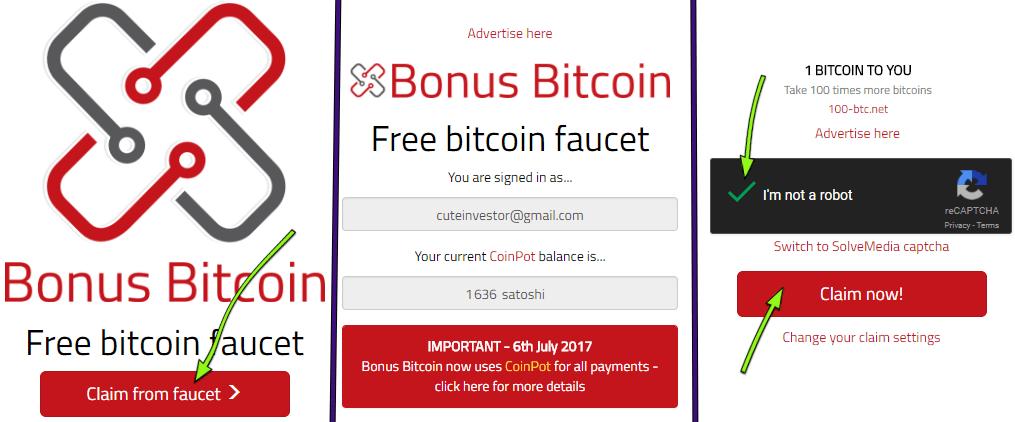 Биткойн кран Bitcoin Bonus