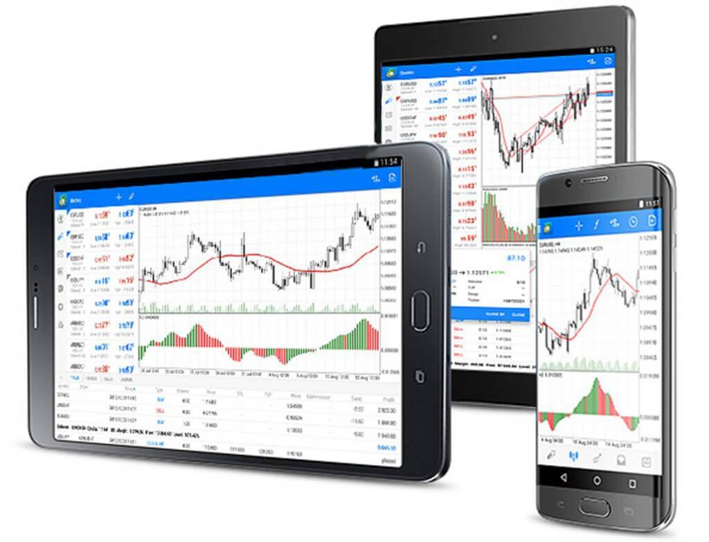 Торговая платформа MetaTrader работает на стационарных компьютерах и на мобильных платформах Android, iOS