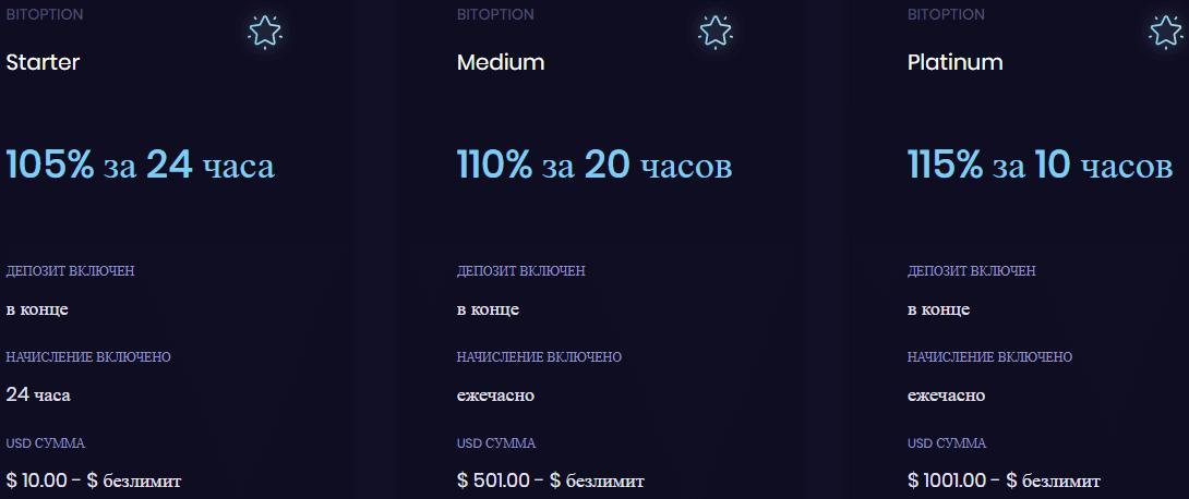 Bitoption: обзор инвест проекта