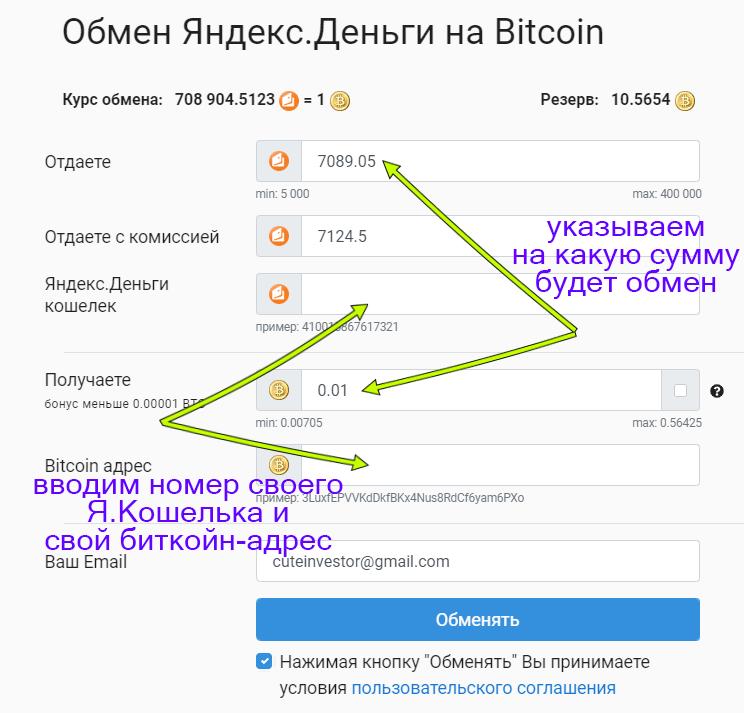 Как обменять яндекс деньги на биткоины