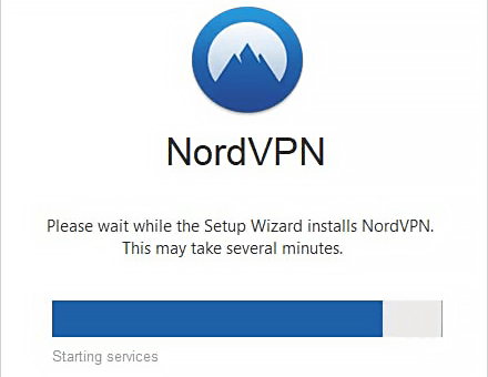 Процесс установки NordVPN