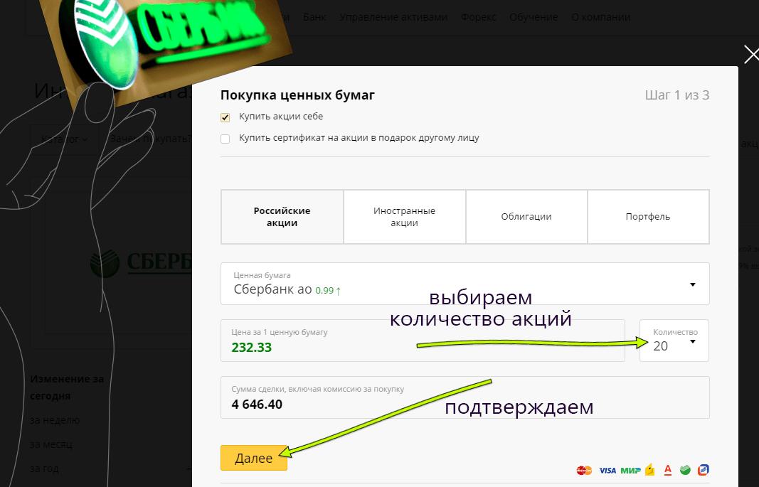 Как купить акции Сбербанка онлайн: инструкция